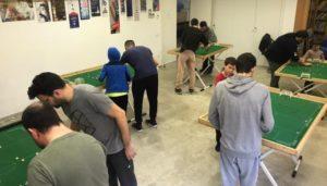 Entrenament de Subbuteo a Mataró
